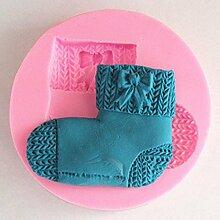 LC Strümpfe X1035Silikon Fondant Form Kuchen Form Schokolade Backen Sugarcraft Dekorieren Werkzeuge
