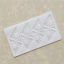 LC Triangle Q019Silikon Fondant Form Spitze Form