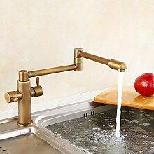 LCBLC Messing Golden Kitchen Sink Wasserhahn Mixer