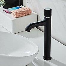LCBLC Messing Mattschwarz Badezimmer Wasserhahn
