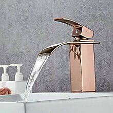 LCBLC Rose Golden Waschbecken Wasserhahn Messing