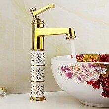 LCBLC Wasserhahn-Waschtischmischer Mit Porzellan &