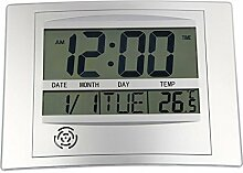 LCD Digital Wanduhr Mit Thermometer Elektronische