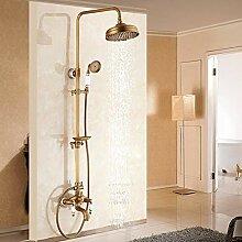 LCDIEB Duschsystem Antike Messing Duschbad