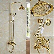 LCDIEB Duschsystem Goldene Dusche Wasserhahn