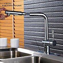 LCDIEB Küchenarmatur Chrom/Gebürsteter