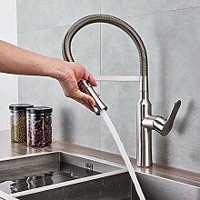 LCDIEB Küchenarmatur Chrom/Gebürstetes Nickel