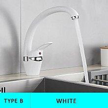 LCDIEB Küchenarmatur Einfacher schwarzer