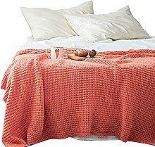 LCDY Baumwolle Nitril Strickdecke Casual Decke