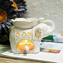 LCFYMX Kerze Duft Lampe Ölofen Bambusrahmen Aroma