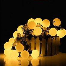 lchde 30er LED Globe Lichterkette 6m Solar Kugeln