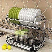 LCHEGG 2-stöckiges Geschirrtrocknergestell aus