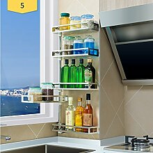 LCHEGG 304 Edelstahl-Küchenregal