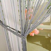 LCHULLE 2 Stück Fadenvorhang 100x200 Türvorhang