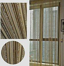LCHULLE Fadenvorhang 100x200 Türvorhang Weiß