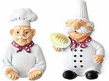 Lcjtaifu Packung mit 4 Harz Französisch Chef