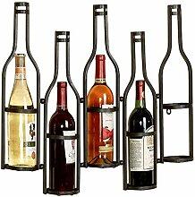 LCK Weinglasständer, Wandmontage Schmiedeeisen 5