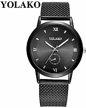 LCLrute YOLAKO Frauen Braun Treibsand Armbanduhr