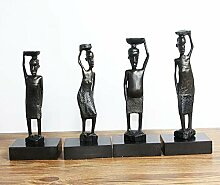 LCLZ Exquisite Afrikanische Skulptur Gusseisen