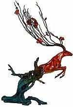 LCLZ Exquisite Deer Dekoration Wohnzimmer TV