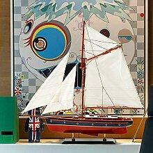LCLZ Exquisite Holzsegelschiff-Modell-Dekoration