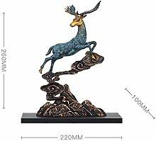 LCLZ Exquisite Kupfer Deer Dekoration Wohnzimmer