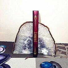 LCLZ Exquisite Natürliche Achat Bookends Buch