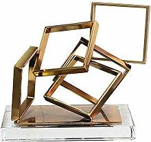 LCLZ Exquisite Nordic Moderne Goldene Metall