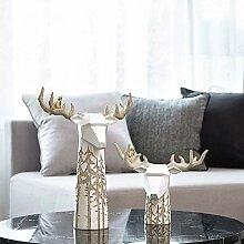 LCLZ Exquisite Nordic Vase EIN Paar Von Hirschen