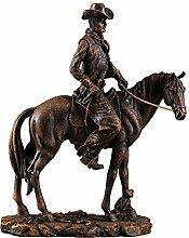 LCLZ Exquisite Reiter Statue Harz Bastelt