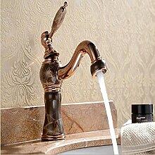Lcoaung Europäische Rose Gold, Titan, Gold, Heißen Und Kalten Becken Wasserhahn, Rose Gold Marmor Waschbecken Wasserhahn, Braun Bronze