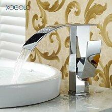 Lcoaung Mode Wasserfall Armatur für Bad Chrom Einloch Waschbecken Wasserhahn Mixer neue Ankunft kalte und warme Wanne. Tippen Sie einen Stil