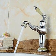 Lcoaung Silber Ziehen Waschbecken Wasserhahn, Alle Kupfer Warmes Und Kaltes Wasser, Ausziehbare Shampoo, Waschbecken, Waschbecken, Armatur, Chrom Grün
