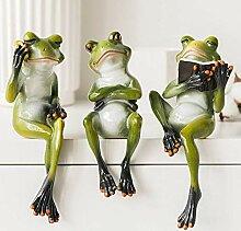 LCR Frosch Garten Dekoration Frosch Statue