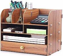 LCTZWJ Bürobedarf Holz Schreibtisch Organizer 9