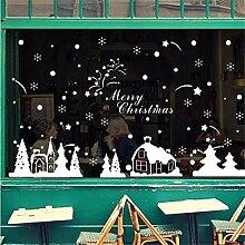 LCXYYY Fensterfolie Weihnachten Schneeflocken