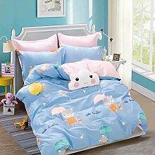 LCYM Bettwäsche Bedruckte Dreiteilige Bettdecke