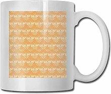 LCYYDECO Porzellan Kaffeebecher Biene Orange