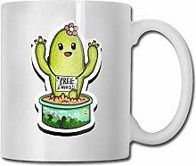 LCYYDECO Porzellan-Kaffeebecher Cactus Green Hugs