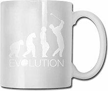 LCYYDECO Porzellan Kaffeebecher Golf Evolution