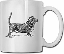 LCYYDECO Porzellan Kaffeebecher Hund Tier Grau