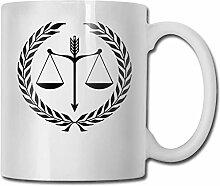 LCYYDECO Porzellan Kaffeebecher Law Balance