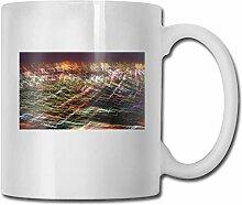 LCYYDECO Porzellan Kaffeebecher Linien Striche