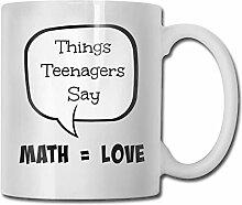 LCYYDECO Porzellan Kaffeebecher Mathe mit Liebe