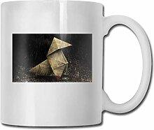 LCYYDECO Porzellan Kaffeebecher Regen Wasser