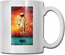 LCYYDECO Porzellan Kaffeetasse Astronaut Marke