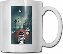 LCYYDECO Porzellan-Kaffeetasse Astronaut Water