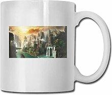 LCYYDECO Porzellan Kaffeetasse Bergwassersmog