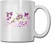 LCYYDECO Porzellan Kaffeetasse Blumen Herzen