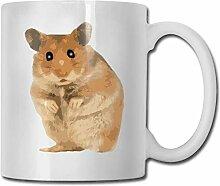 LCYYDECO Porzellan Kaffeetasse Hamster Tierbraun